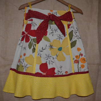 Urban Cowgirl Anthropologie cotton yellow floral skirt