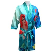 Disney Little Mermaid Princess Ariel Satin Robe