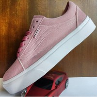 Vans Old School Pink Classic Leisure Plate shoes B-A-HYSM