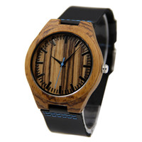 Zebra Wood 44mm Wooden Watch -W-205Z