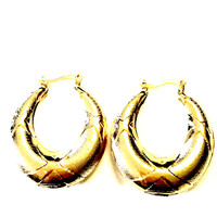 Life Savers 18kts Gold Plated Earrings Hoops