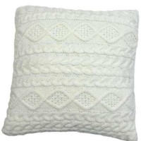Cable Knit Pillow Winter White (Without Insert)