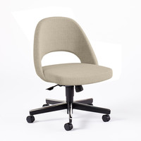 Saarinen Executive Side Chair with Castors