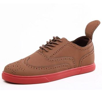Chic Youthful Brogue Shoes For Man