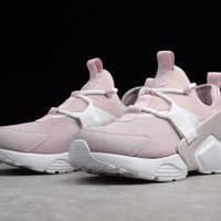 "Nike AIR HUARACHE CITY LOW 5 Running SHoes  ""Purple&White"" AH6804-600"