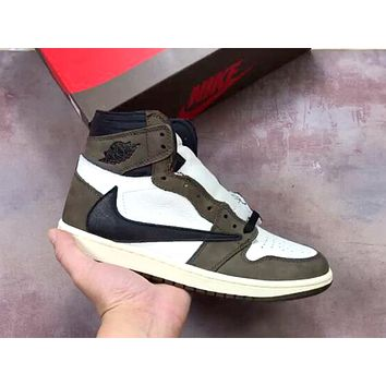 Air Jordan 1 x Travis Scott anti-barb high-top sneakers