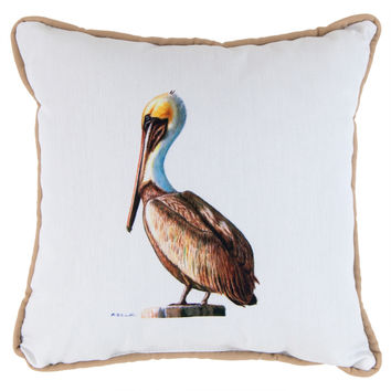 Pelican Tan Small Indoor/Outdoor Accent Pillow