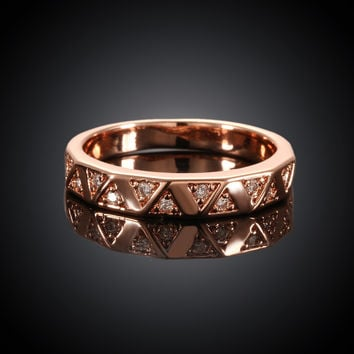 Waves Rose Gold Plated Ring