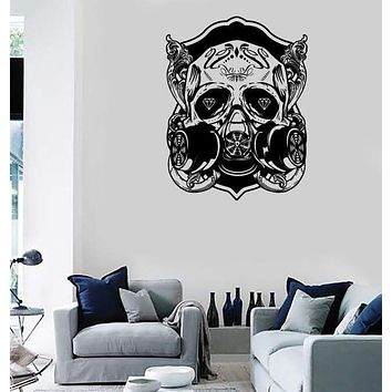 Wall Stickers Vinyl Decal Skull Scary Cool Gothic Decor Rock`n`Roll Unique Gift (z2345)