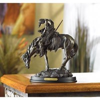 """Bronze Finish """"The End Of The Trail"""" Western Statue"""