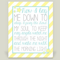 Now I lay me YELLOW Art Print by KBlantonGraphics on BoomBoomPrints