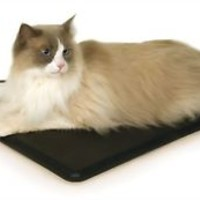 """Heated Kitty Pad Extreme Weather KH Manufacturing Black 12.5"""" x 18.5"""" 40W Bed"""