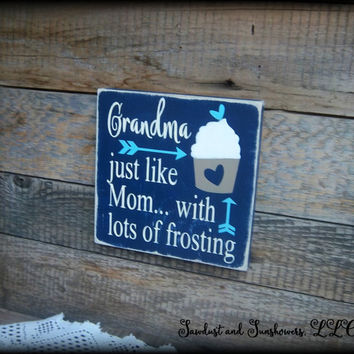 Gift For Grandma, Gift For Gigi, Gift For Nana, Small Wooden Sign, Hand Painted Decor, Custom Plaque, Mother's Day Gift, Affordable Gifts