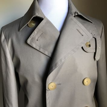 New $2400 Gucci Mens Classic Trench Coat Coat Tan 40 US ( 50 Eu ) Switzerland