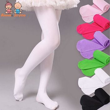 1Pc/lot Muiti-Colors Girls Tights Kids Novelty Cartoon Cute Stockings Baby Soft Velvet Ballet Pantyhose Princess Knee High Socks