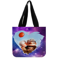 Space Galaxy carl and ellie - Totebags