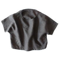 rennes — Delft Smock Top Black