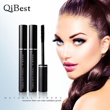 QiBest Black Gel Fiber Extended fiber Lashes Special Effects extended Eyelash Collocate Eye Mascara Lengthening (Not liquid)