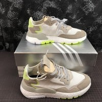 DCCK2 A1171 Adidas Nite Jogger 2019 3M Reflection Boost Running Shoes White Green