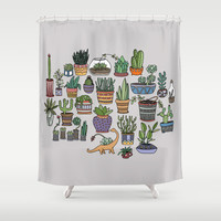 Succulent Party Shower Curtain by Alliedrawsthings | Society6