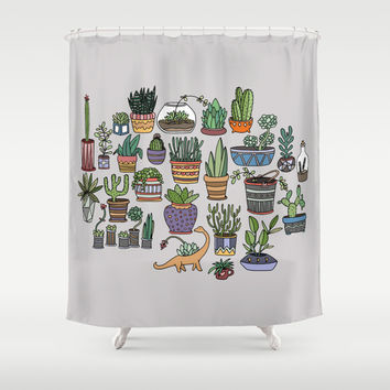 succulent party shower curtainfrom society6 | shower curtains