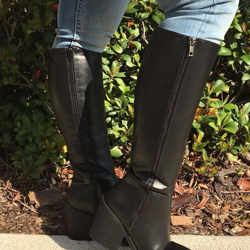 Head Over Heels Boots- Black