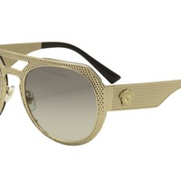 Versace Women's VE2175 VE/2175 125211 Gold/Black Fashion Pilot Sunglasses 60mm