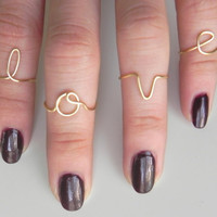 Personalized Initial Knuckle Ring Ajustable Size by JOYnessence