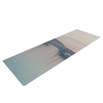 "Laura Evans ""As the Sun Goes Down"" Gray Pastel Yoga Mat"