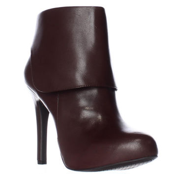 Jessica Simpson Addey Foldover Dress Ankle Boots - Hot Chocolate