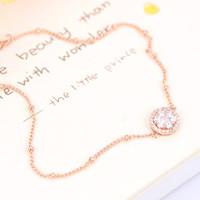 New Arrival Shiny Stylish Sexy Jewelry Gift Ladies Cute Apple Floral Chain Anklet [6049498049]