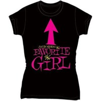 Justin Bieber - Favorite Girl Juniors Baydoll T-Shirt