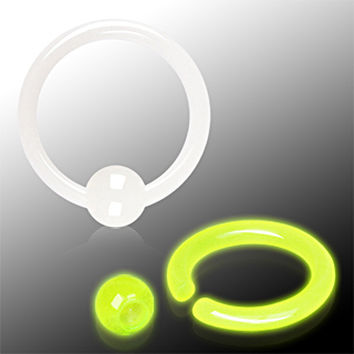 Glow in the Dark Captive Bead Ring