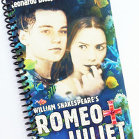 Romeo and Juliet JOURNAL NOTEPAD NOTEBOOK Upcycled spiral bound recycled