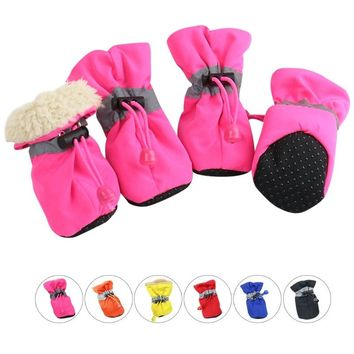Warm Dog Shoes Winter Waterproof Pet Dog Shoes For Dogs Large Anti slip Puppy Pet Shoes For Small Dog Rain Snow Pet Boot 35 A1