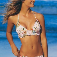 Floral Scalloped Swim Bottoms Pink/ Floral