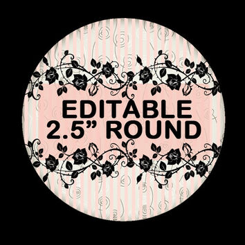 "Elegant ""EDITABLE""   - Soap labels - Lotion Labels - Body Butter Labels - Product Labels Editable - Scrapbooking"