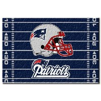 "New England Patriots NFL Tufted Rug (59""x39"")"