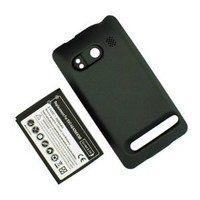 SANOXY® 3500mAh Extended Battery + Black Cover for HTC Evo 4G