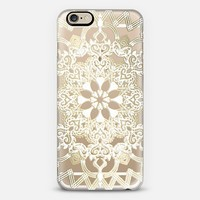 Frosted Lace Medallion on Crystal Transparent iPhone 6 case by Micklyn Le Feuvre | Casetify