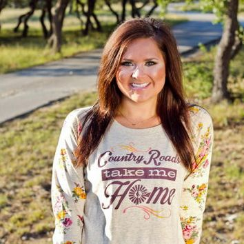 ATX Mafia Country Roads Take Me Home Floral Shirt