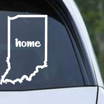 Indiana Home State Outline IN - USA America Die Cut Vinyl Decal Sticker