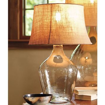 Clift Seeded Glass Table Lamp | Pottery Barn
