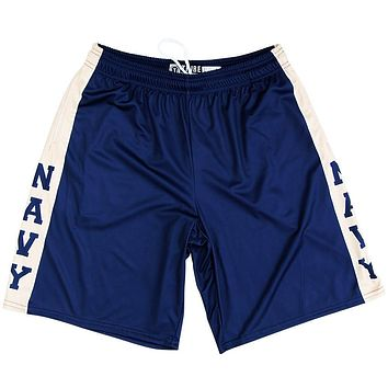 US Navy Blue & Gold Lacrosse Shorts