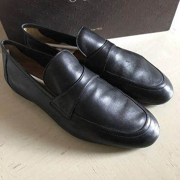 $575 Gucci Men's Shoes Loafers Black 10G (10.5 US ) Italy