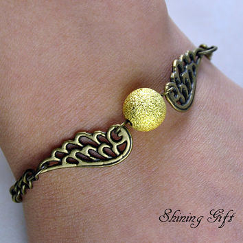 Harry potter Golden Snitch Bracelet with wings