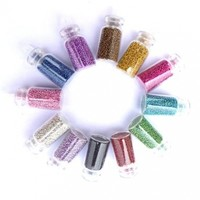 350buy 12 Colors Attractive Lady Bottle with Beautiful Silver Plastic Bead Nail Art Accessories