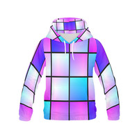 Gradient squares pattern All Over Print Hoodie for Men (USA Size) (Model H13) | ID: D1438639