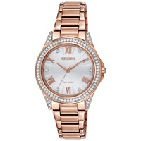 Ladies' Drive from Citizen Eco-Drive POV Rose Golden Crystal Watch