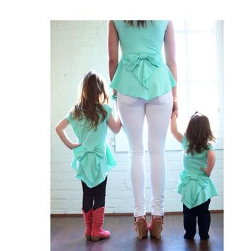 Mommy Peplum Mint Top - Ryleigh Rue Clothing by MVB